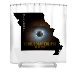 Total Solar Eclipse In Missouri Map Outline Shower Curtain by David Gn