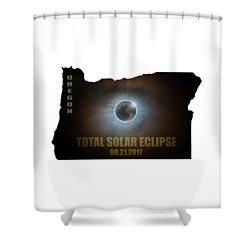 Total Solar Eclipse In Oregon Map Outline Shower Curtain by David Gn