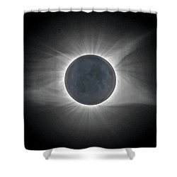 Shower Curtain featuring the photograph Total Solar Eclipse With Corona by Lori Coleman