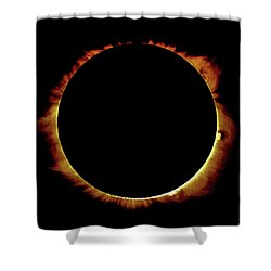 Totality Over Processed Shower Curtain