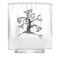 Totem Tree Drawing Shower Curtain