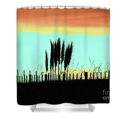 Totitoi Sunset II Shower Curtain