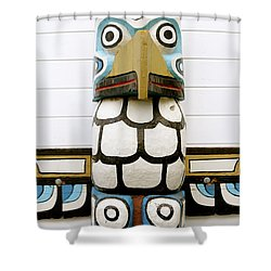 Shower Curtain featuring the photograph Totum Pole by Brandy Little