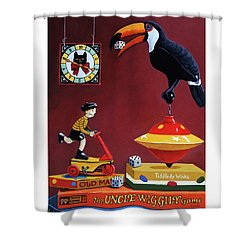 Shower Curtain featuring the painting Toucan Play At This Game by Linda Apple