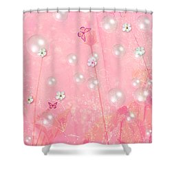 Touch Me In The Morning Shower Curtain by Sherri's Of Palm Springs