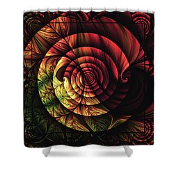 Touch Of Sunshine Abstract Shower Curtain by Georgiana Romanovna