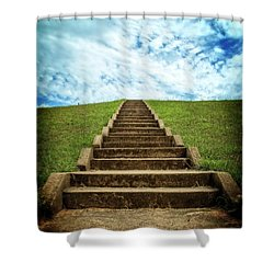 Shower Curtain featuring the photograph Touch The Sky by Alan Raasch