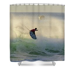 Shower Curtain featuring the photograph Touch The Sun by Thierry Bouriat