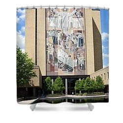Touchdown Jesus Mural Shower Curtain by Sally Weigand