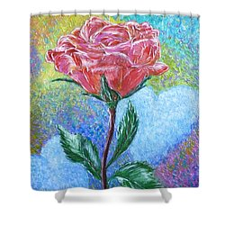 Touched By A Rose Shower Curtain