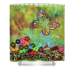 Touched By Enchantment Shower Curtain by Donna Blackhall