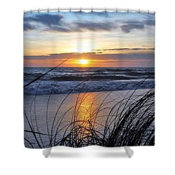 Touching The Sunset Shower Curtain
