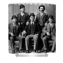 Tough Men Of The Old West 2 Shower Curtain by Daniel Hagerman