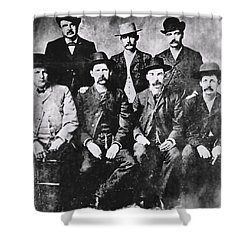 Tough Men Of The Old West Shower Curtain by Daniel Hagerman