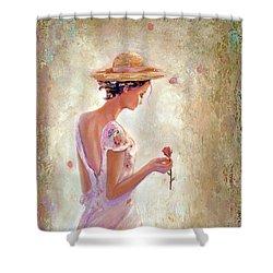 Toujours De Fleurs Shower Curtain by Michael Rock