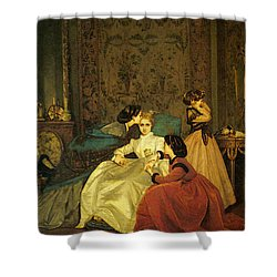 Toulmouche Auguste The Reluctant Bride Shower Curtain