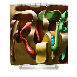 Toungue Wall Shower Curtain