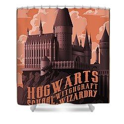 Tour Hogwarts Castle Shower Curtain