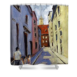 Tour Of The Old Town Shower Curtain by Richard T Pranke