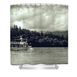 Touring The Lakes In Sepia Shower Curtain