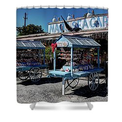 Tourist Souvenir Shell Carts Shower Curtain