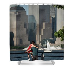 Tourists Shower Curtain by Nicki McManus