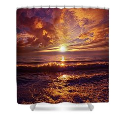 Shower Curtain featuring the photograph Toward The Far Reaches by Phil Koch