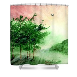 Toward The Promised Land Shower Curtain by Andrew Gillette