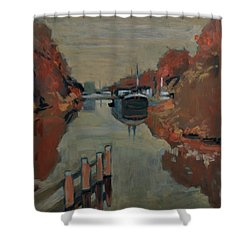 Towards Pius Harbour Shower Curtain