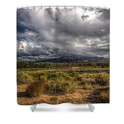 Towards Sandia Peak Shower Curtain