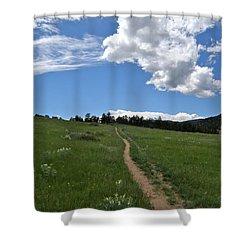 Towards The Sky Shower Curtain