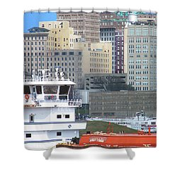 Towboat Robt G Stone At Memphis Tn Shower Curtain