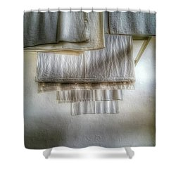 Towels And Sheets Shower Curtain by Isabella F Abbie Shores FRSA
