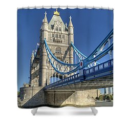 Tower Bridge 2 Shower Curtain by Chris Day