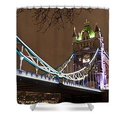 Tower Bridge Lights Shower Curtain by Rae Tucker