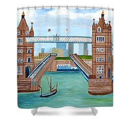 Tower Bridge London Shower Curtain by Magdalena Frohnsdorff