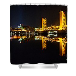Tower Bridge Sacramento Shower Curtain
