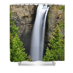 Shower Curtain featuring the photograph Tower Fall by Greg Norrell