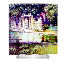 Tower Grove Park Shower Curtain by Stan Esson