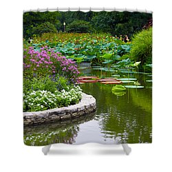 Tower Grove Pond Shower Curtain by John Lautermilch