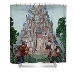 Tower Of Babel Shower Curtain