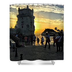 Tower Of Belem Shower Curtain
