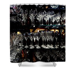 Tower Of Glass Shower Curtain by Donna Blackhall