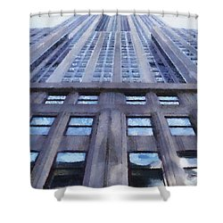 Tower Of Steel And Stone Shower Curtain by Jeff Kolker