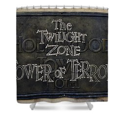 Tower Of Terror Shower Curtain by David Nicholls