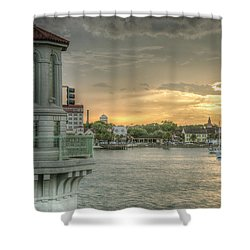 Tower Sunset Shower Curtain