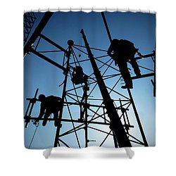 Shower Curtain featuring the photograph Tower Tech by Robert Geary