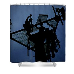 Shower Curtain featuring the photograph Tower Top by Robert Geary