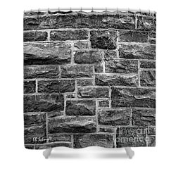 Tower Wall Black And White Shower Curtain by E B Schmidt