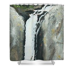 Towering Falls Shower Curtain